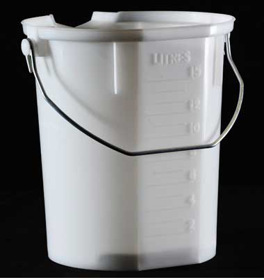 15 Litre Pour Max Industrial Measuring Bucket Silverlock
